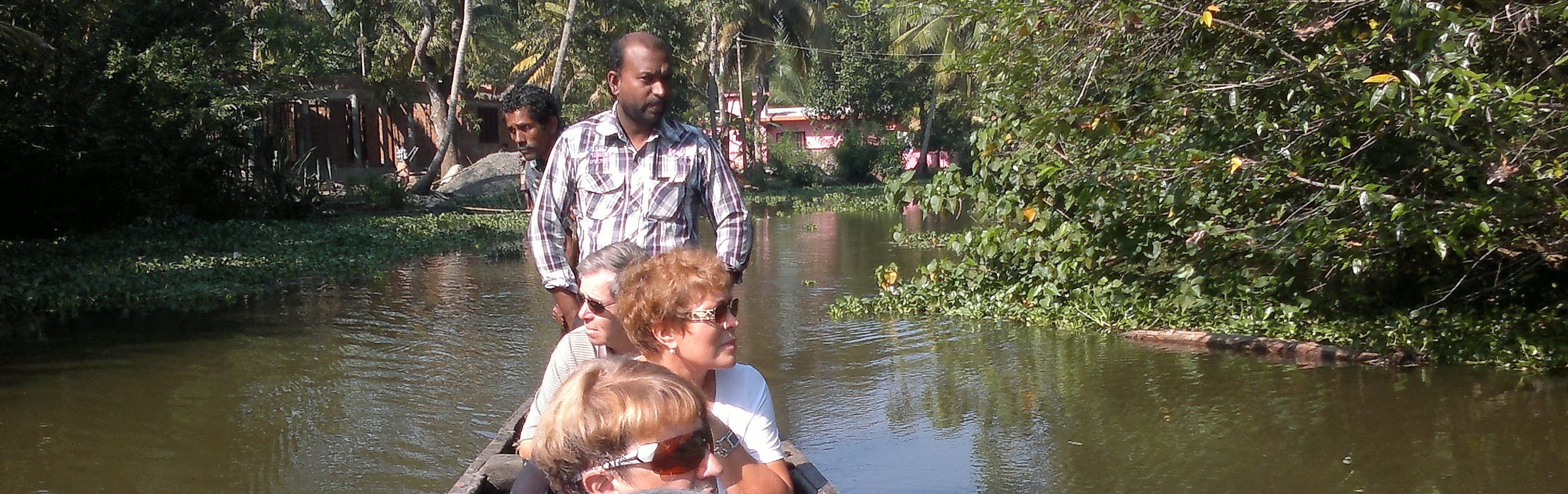 canal cruise backwater in Kerala