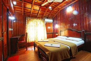 premium houseboat room