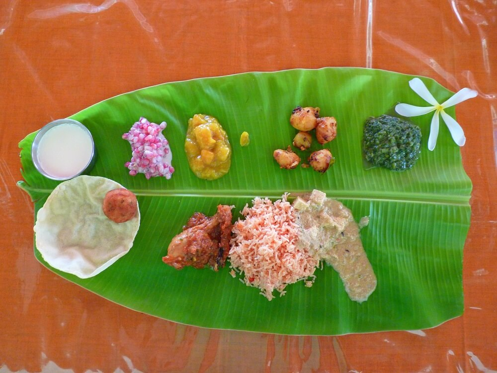 Kerala Food Cuisine Banana Leaf