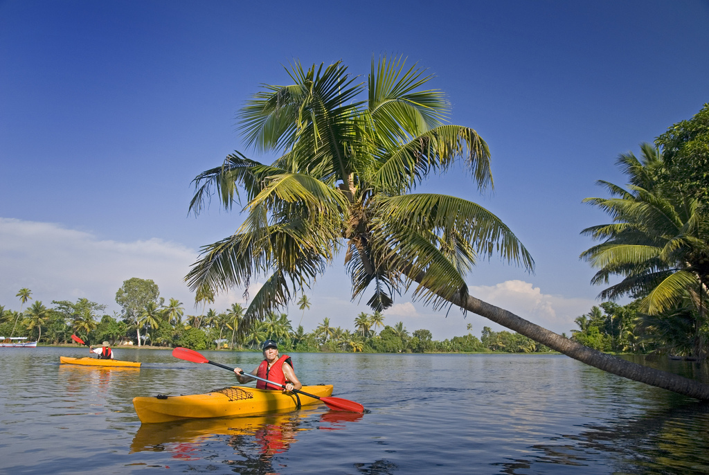 kayaking kerala