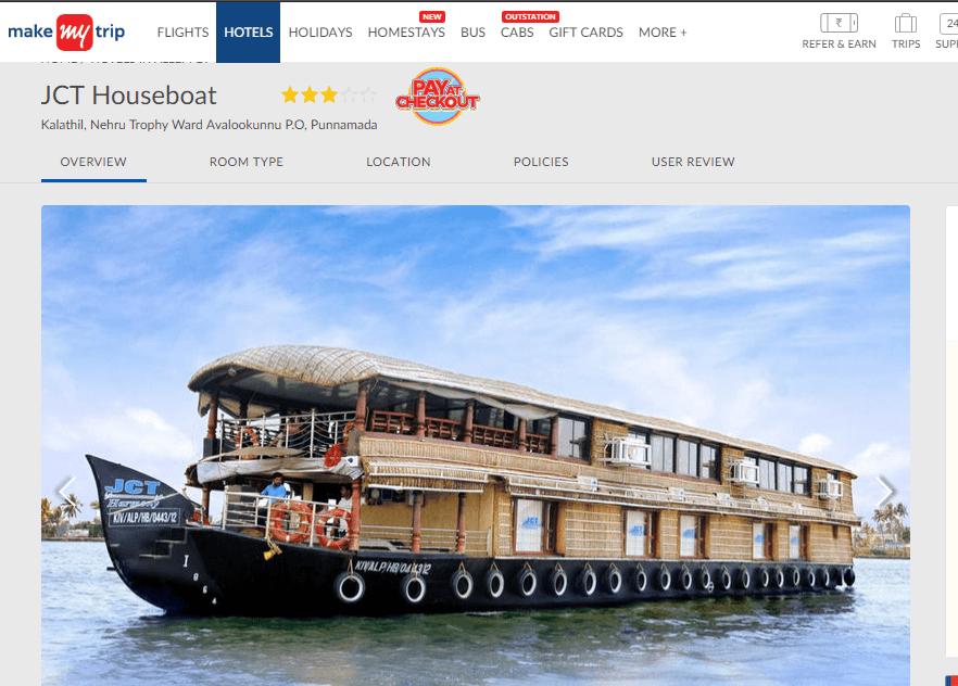 JCT Houseboat (makemytrip.com)