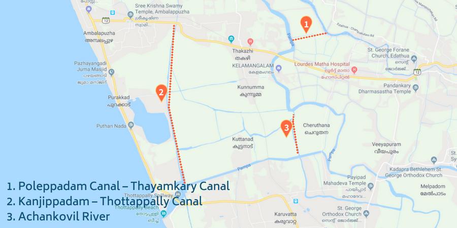 Kerala Canals Map