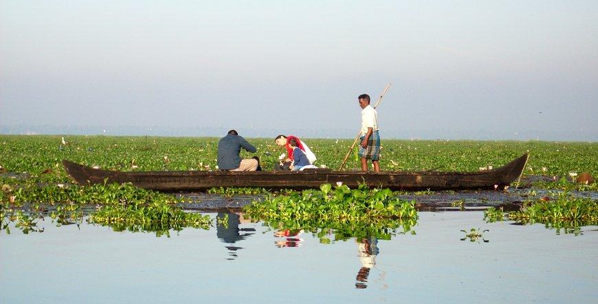 Vembanad lake in kumarakom